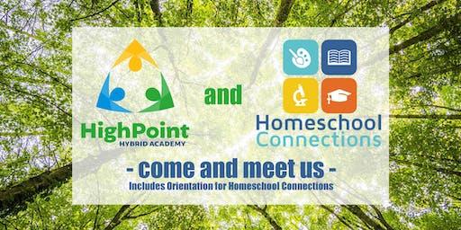 Meet Us: Homeschool Connections & HighPoint Hybrid Academy (August 8)