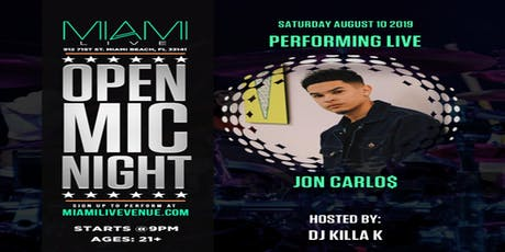 Jon Carlo$ Performing LIVE @MIAMILIVE tickets