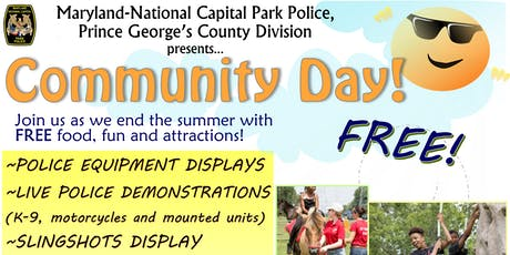 PG Park Police Community Day 2019 tickets