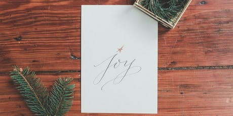 Modern Calligraphy for Holiday Cards tickets