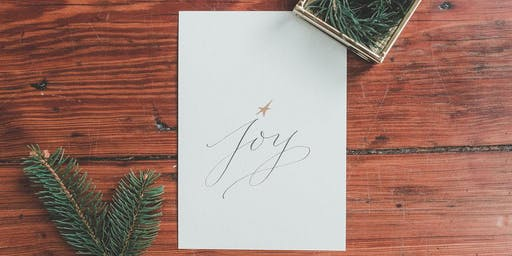 Modern Calligraphy for Holiday Cards