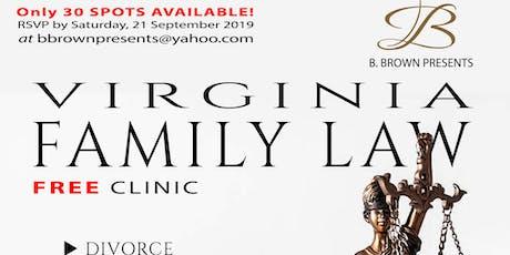 Free Family Law Clinic (Virginia). tickets