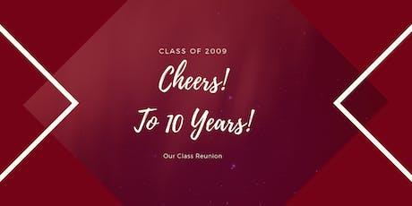 SJHS Class of 2009 10 Year Class Reunion tickets
