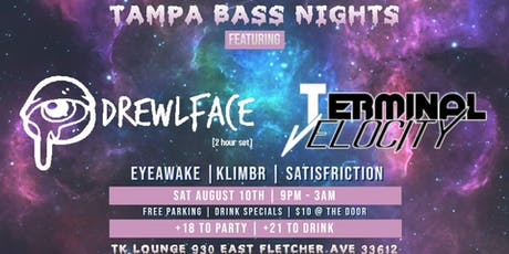 8-10 Tampa Bass Nights presents DREWLFACE tickets