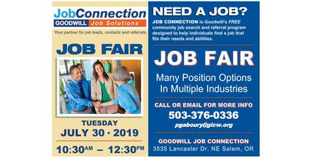 Job Fair - Salem - 7/30/19 tickets