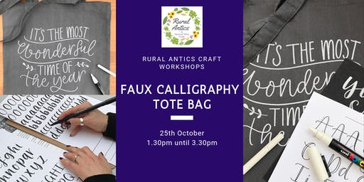 Faux Calligraphy Tote Bag Workshop