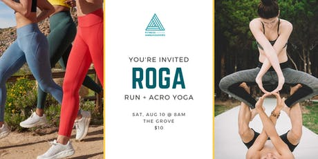 ROGA at The Grove (run + yoga) tickets