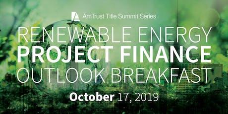 Renewable Energy Project Finance Outlook Summit tickets