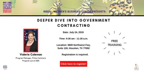 Deeper Dive into Government Contracting tickets