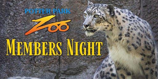 Member's Night 2019 at Potter Park Zoo
