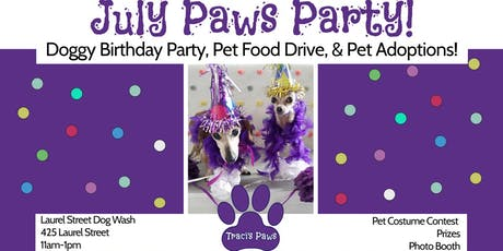 Traci's Paws July Paws Party! tickets