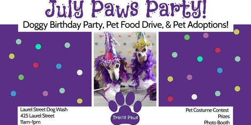 Traci's Paws July Paws Party!