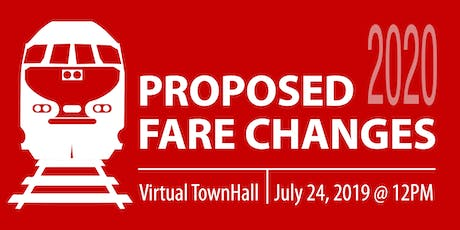 Caltrain Proposed Fare Changes Virtual Town Hall tickets