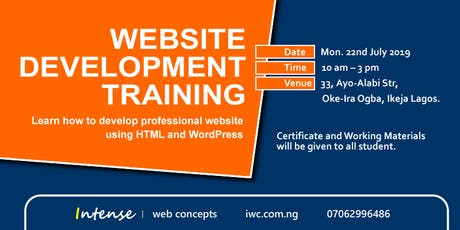 WEBSITE DEVELOPMENT TRAINING tickets