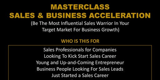 Masterclass Sales & Business Acceleration - Subsidised Event.