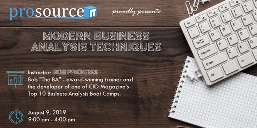 Modern Business Analysis Techniques by ProSource IT