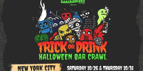 Trick or Drink: NYC Halloween Bar Crawl (2 Days) tickets