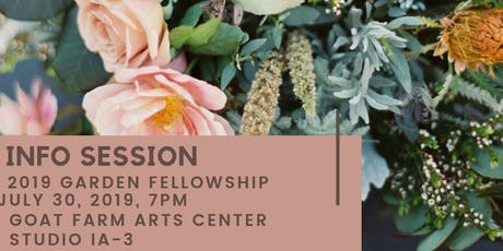 Info Session | 2019 Garden Fellowship  tickets