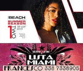THE BEACH CLUB MILANO - GIOVEDI 18 LUGLIO 2019 - ONE TWO - HIP HOP RNB REGGAETON PARTY - LISTA MIAMI - LISTE E TAVOLI 338-7338905 biglietti