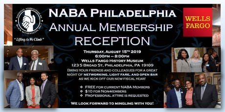 NABA, Inc. - Philadelphia Chapter Annual Membership Reception tickets