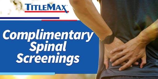 Free Spinal Screenings at TitleMax Nashville, TN