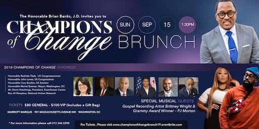 Champions of Change Brunch 2019 featuring PJ Morton, Congressman John Lewis, Rev. Al Sharpton, Sen. Cory Booker, Mayor Muriel Bowser, & others