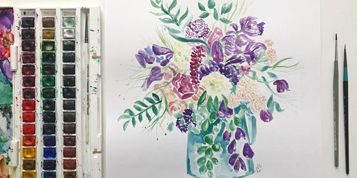 Make your own watercolour flowers painting for beginners