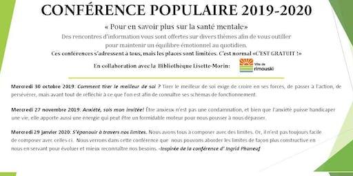 SMQ-BSL :Conférence populaire: S'épanouir à travers nos limites.