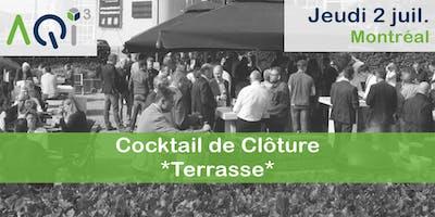 Cocktail de clôture Terrasse - Montréal