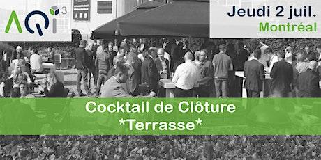 Cocktail de clôture Terrasse - Montréal billets