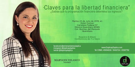 "Conferencia ""Claves para la Libertad Financiera"" tickets"