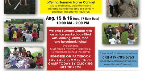Summer Horse Camps tickets