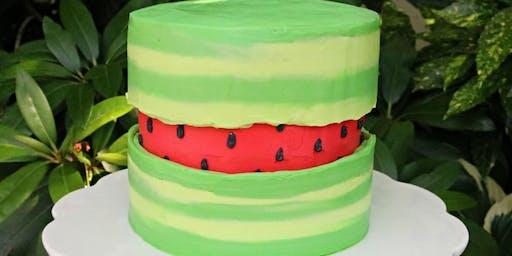 Watermellon Fault Line Cake Class