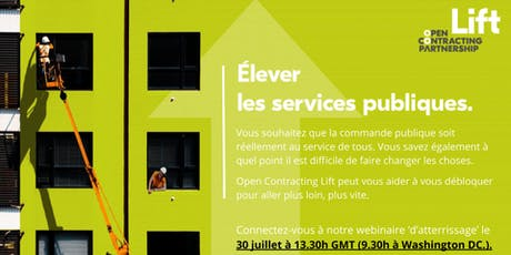 Open Contracting Lift Webinaire : Atterissage tickets