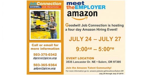 Amazon Hiring Event - July 24 to July 27