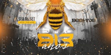 BEEHIVE 13 ANOS ingressos