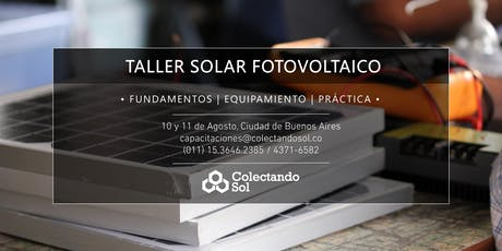 Taller Solar Fotovoltaico CABA //Agosto 2019 entradas
