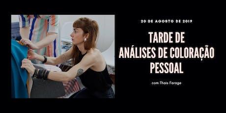 Tarde de Análise de Cor em São Paulo - 20 de agosto de 2019 ingressos