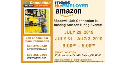 Hiring Events - Amazon - Multiple - Salem Oregon