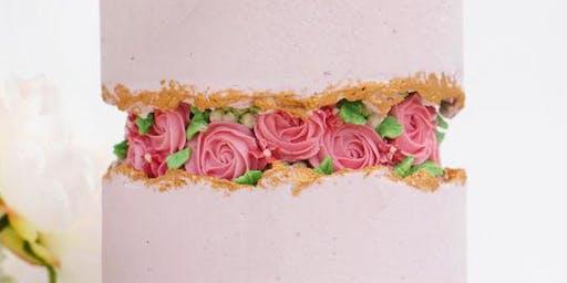 Rose Fault Line Cake Class