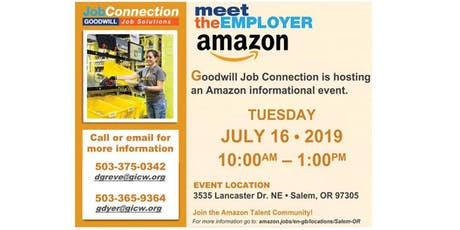 Amazon Information Event - Salem - 7/16/19 tickets