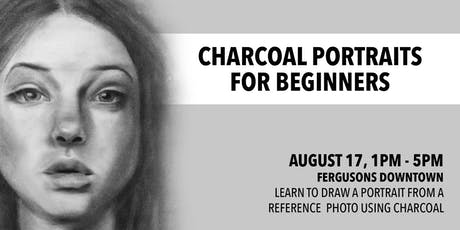 Charcoal Portraits For Beginners tickets