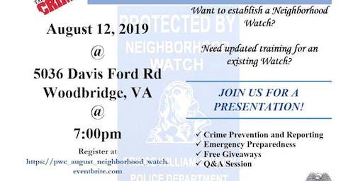 Prince William County Neighborhood Watch Training
