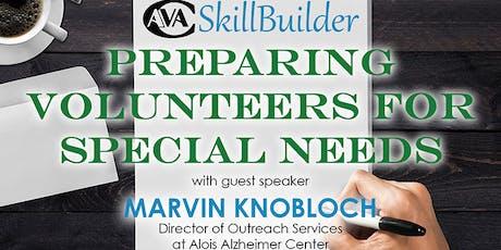 Preparing Volunteers for Special Needs tickets