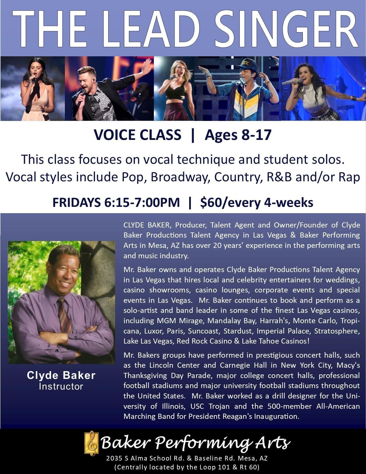 The Lead Singer Voice Class