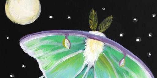 Family Fun Creative Canvas - Glow in the Dark Moth
