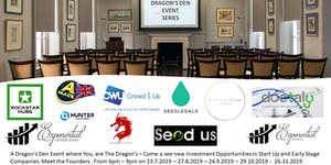 Exponential Dragon's Den & Investment Pitch Event July