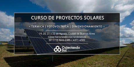 Curso de Proyectos Solares // Buenos Aires Agosto 2019 entradas