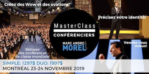 MasterClass CONFÉRENCIERS MONTRÉAL 23-24 NOVEMBRE 2019