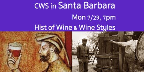 CWS in SB: Hist of Wine & Wine Styles tickets
